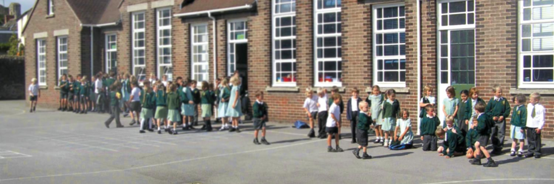 Slider background school primary building green