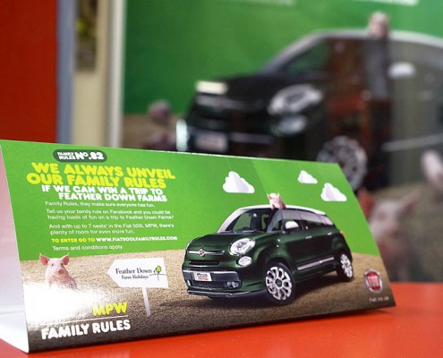 fiat ambient advertising in kid's play house