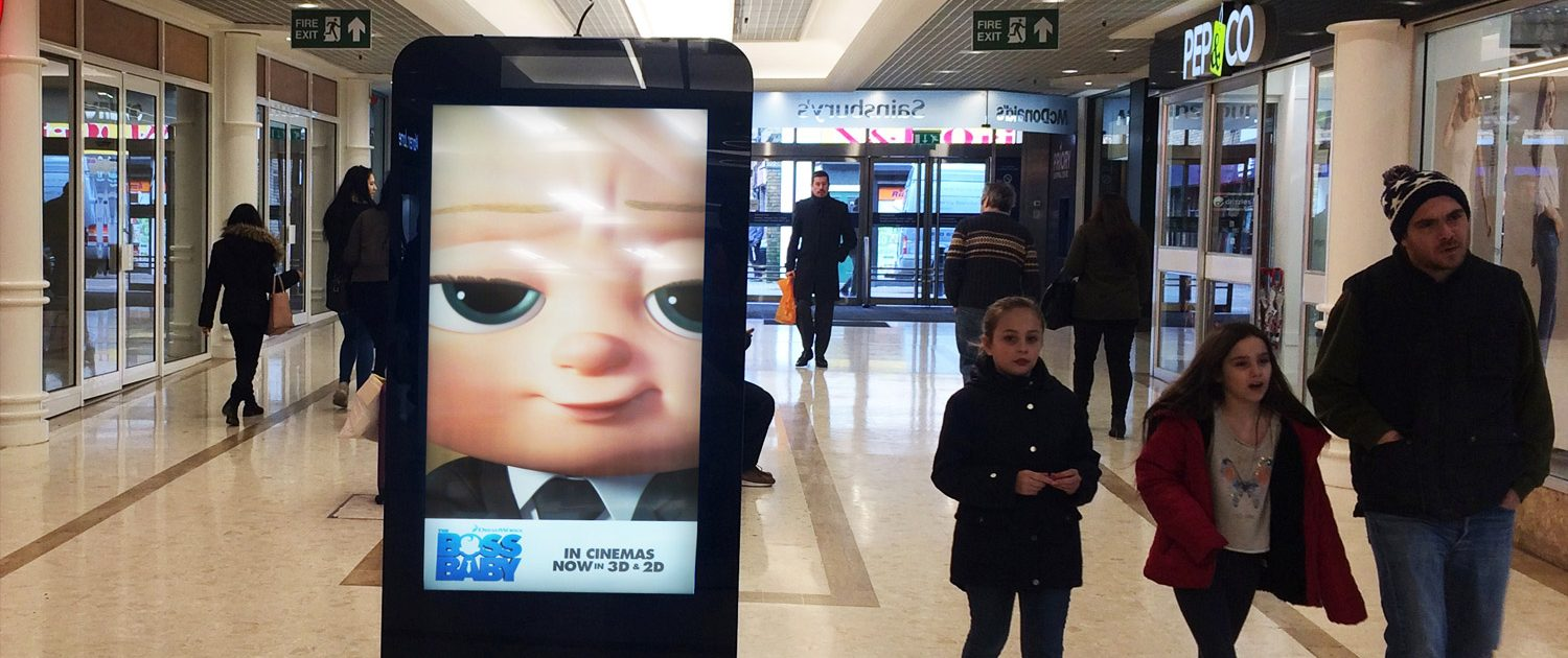 Boss baby D6 in shopping mall