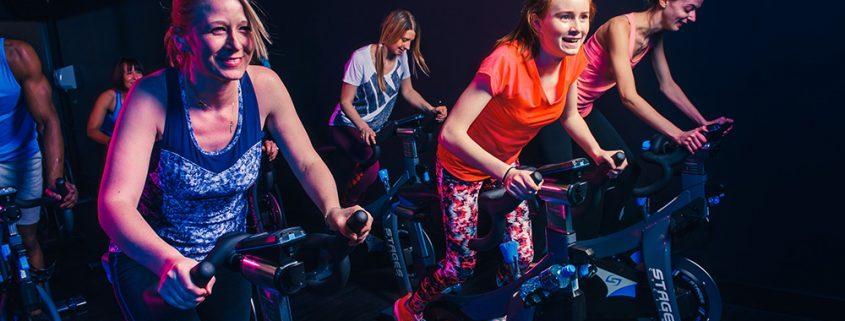 Cycling machines in health club