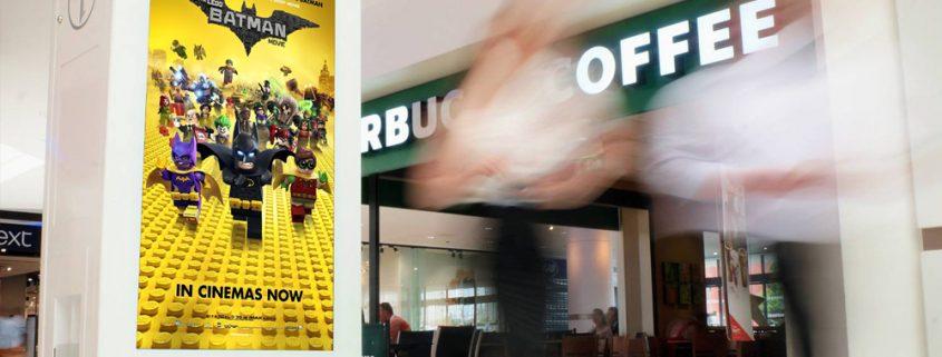 Digital ooh shopping mall screen