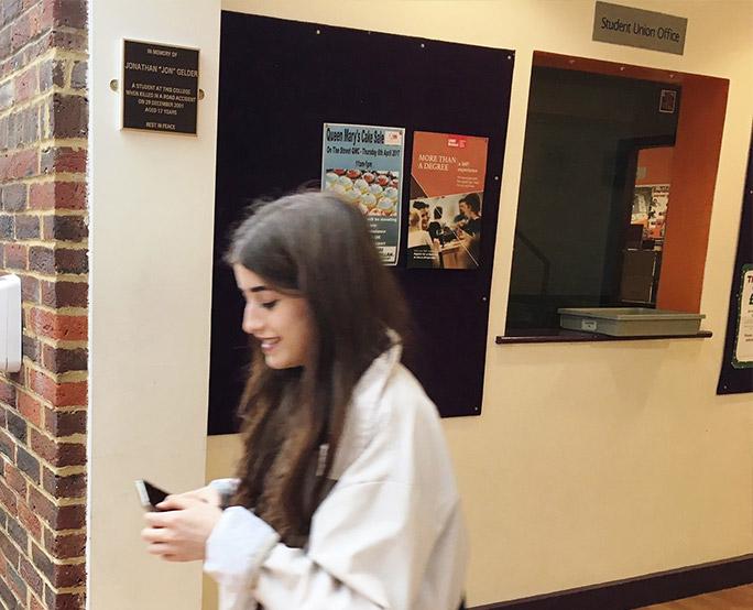 UWE ambient advertising towards students in school