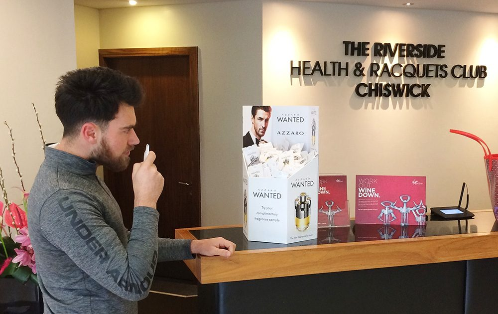 Azzaro Samoling, health club, reception