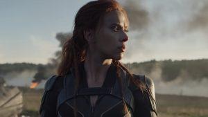 Black Widow film release advertising