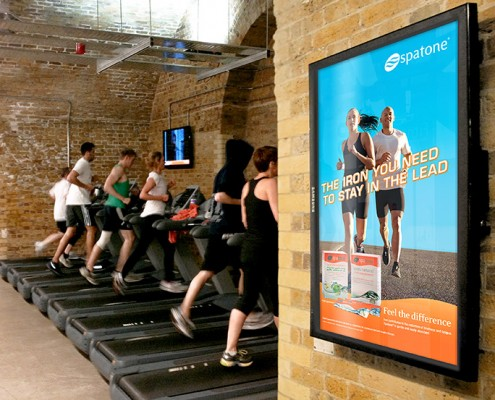 Health Club digital screen Spatone