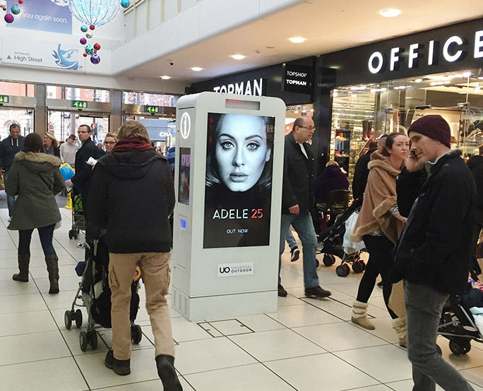 Adele D6 in shopping mall