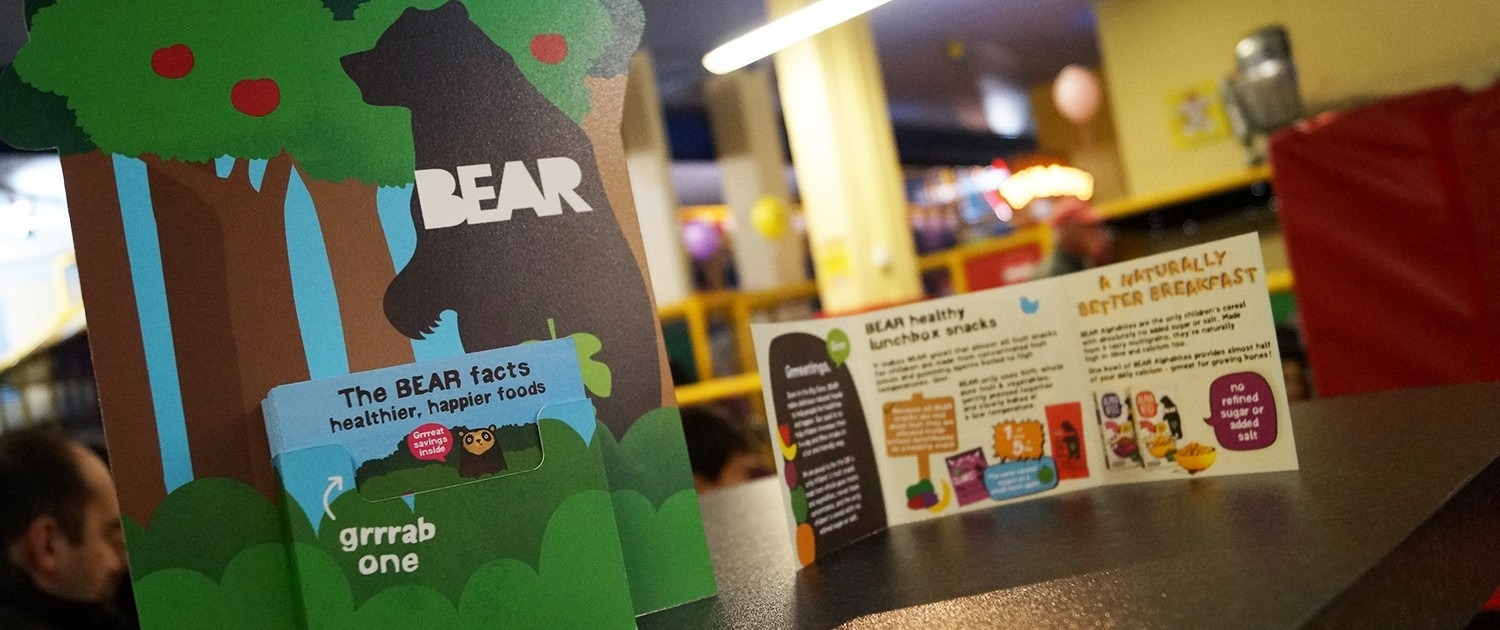 Bear ambient advertising in play house