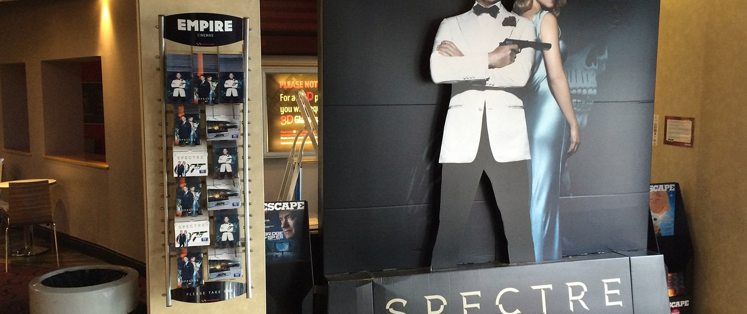 Spectre ambient advertising in a cinema