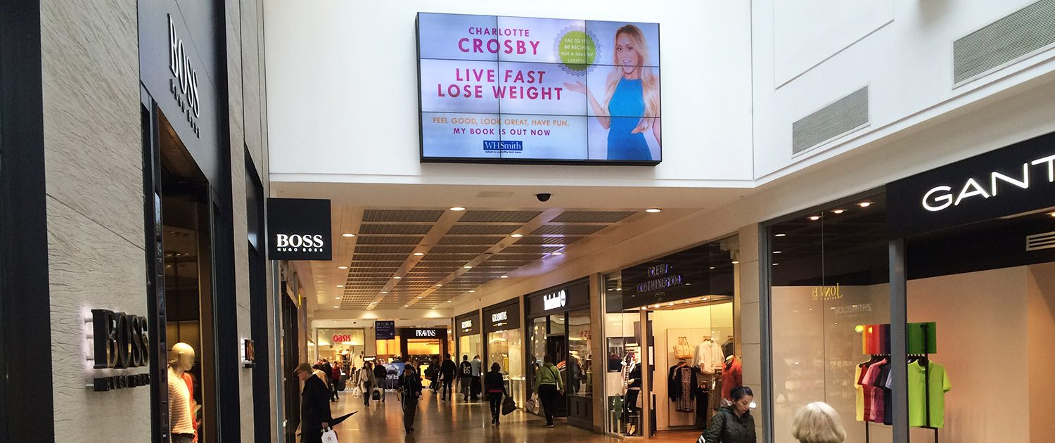 Live fast lose weight iconic advertising in shopping mall