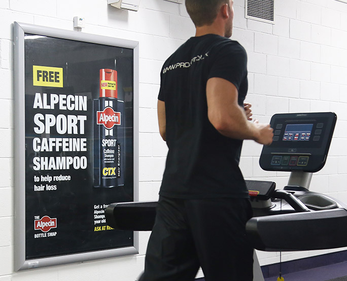 Alpecin 6 sheet in health club