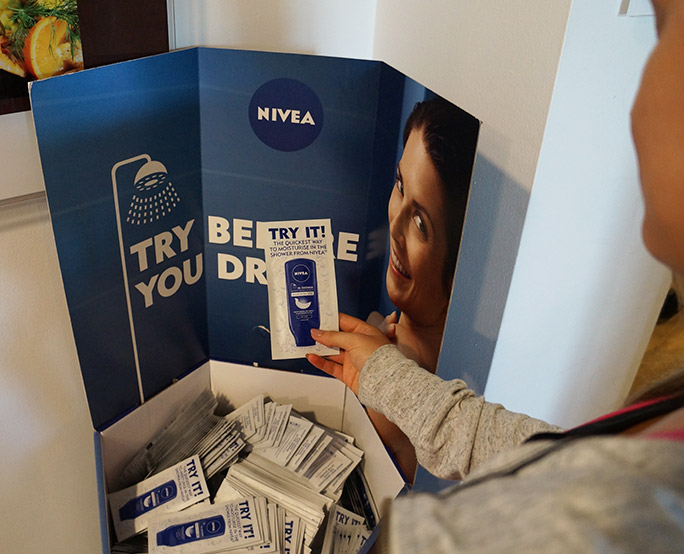 Nivea health club sampling