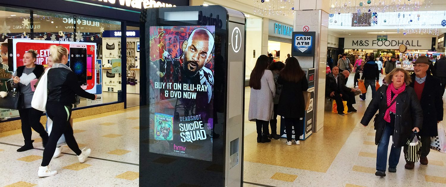 Suicide Squad D6 in crowded shopping mall