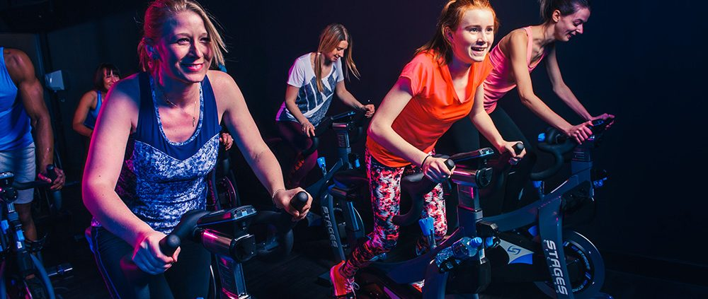 Cycling machines in health club
