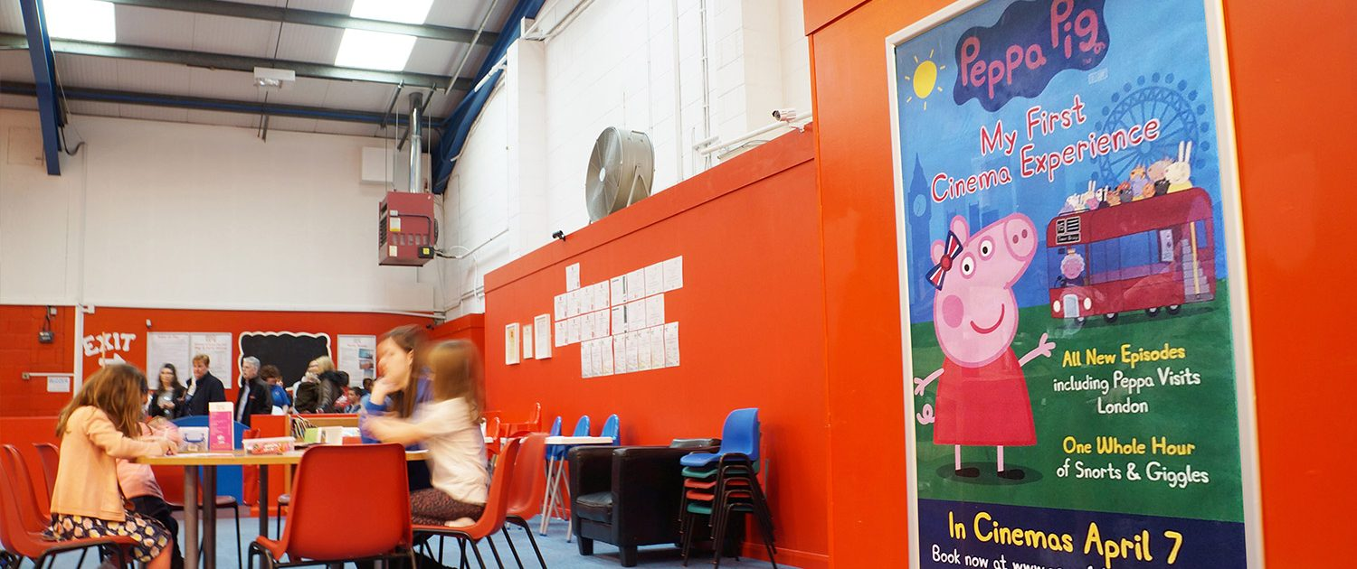 Peppa pig ambient in play house appealing towards children