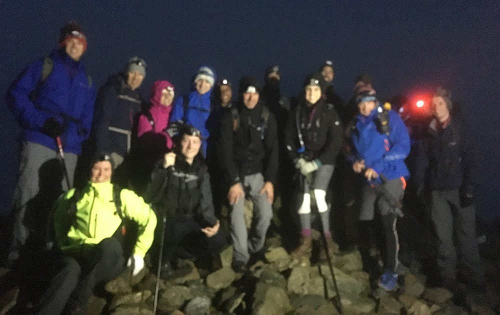 Boomerang doing 3 peaks challenge, Night