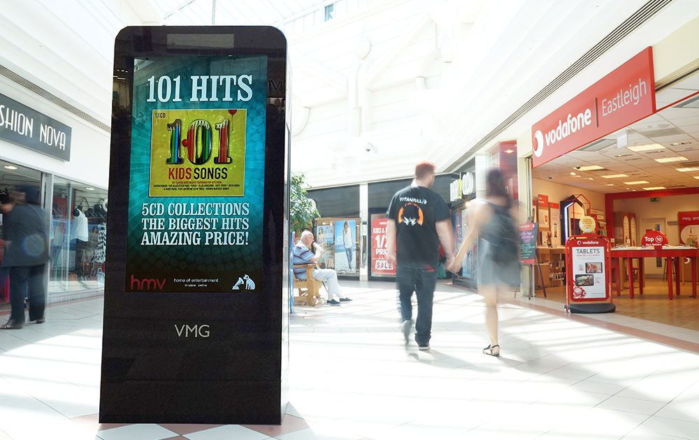 Digital out of home advertising HMV