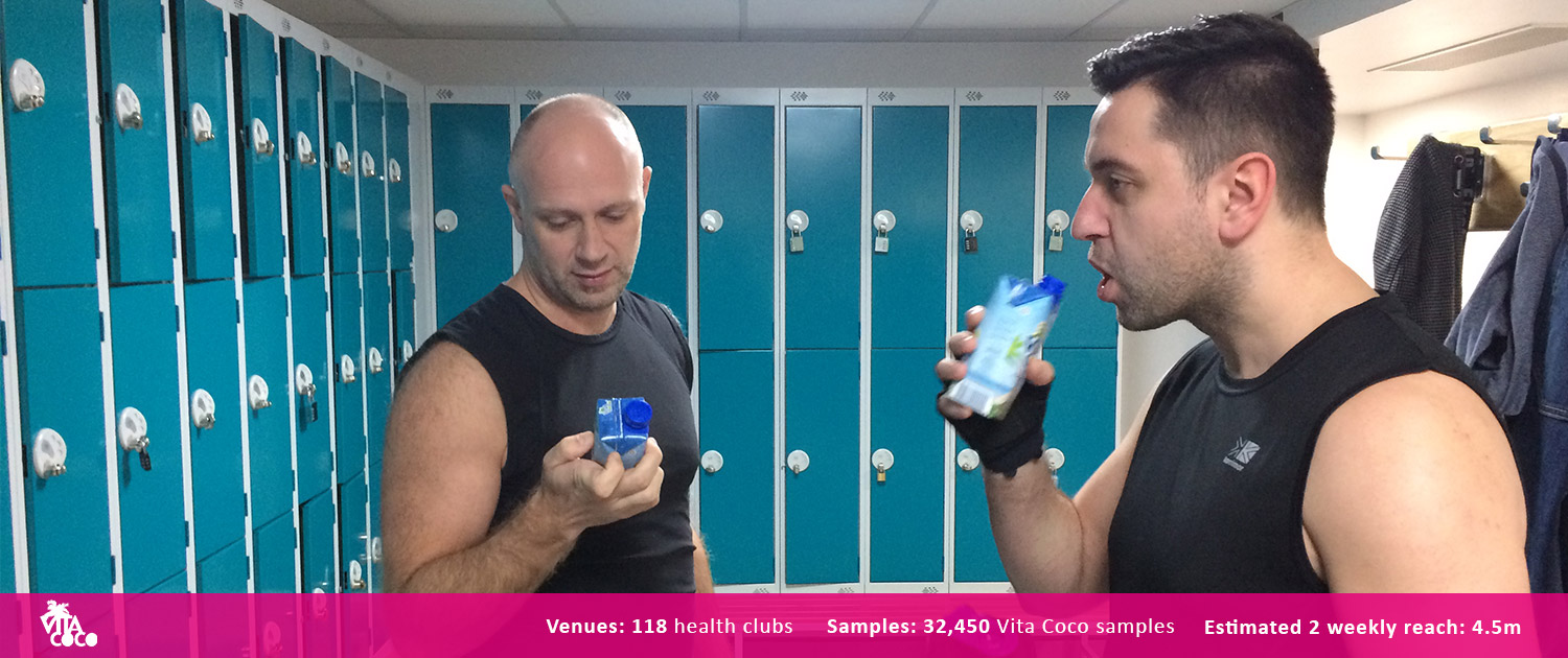 Vita Coco Gym Product Sampling